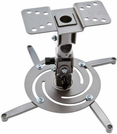 Кронштейн для проектора Cactus CS-VM-PR04-AL серебристый макс.10кг настенный и потолочный поворот и