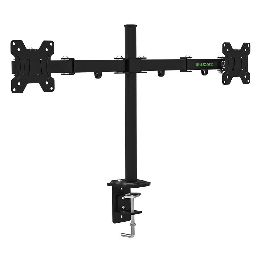 Кронштейн для мониторов Tuarex ALTA-503 Черный для 2xLCD мониторов 15-32, настольный, VESA 100х100, max 2*8 кг настольный кронштейн для монитора smartstool с12