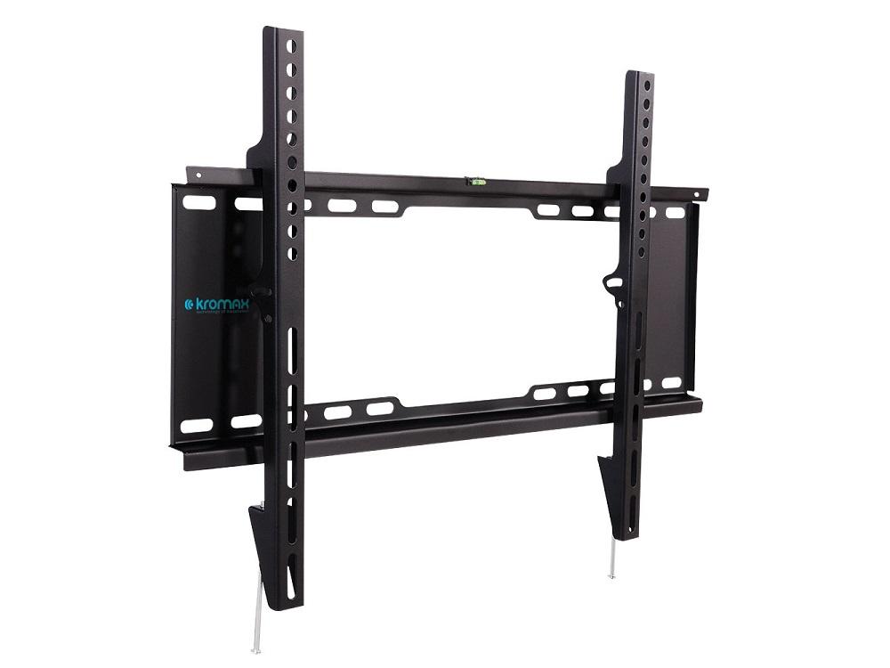 цена на Кронштейн Kromax IDEAL-101 black для LED/LCD TV 32-90, max 20 кг, 0 ст свободы, от стены 30 мм, max VESA 600x400 мм