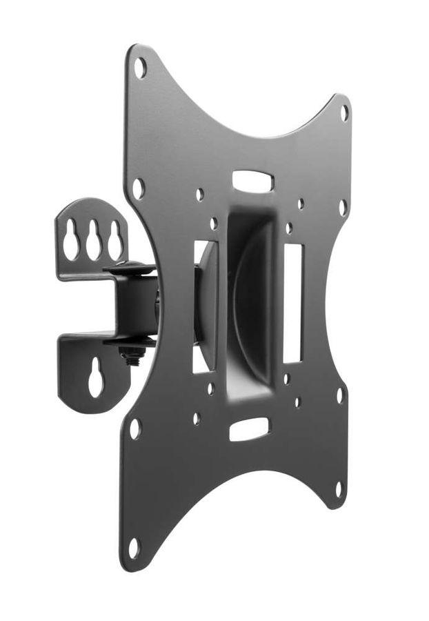 Фото - Кронштейн для телевизора Ultramounts UM 858 черный 23-42, макс.30 кг, поворот и наклон кронштейн для мониторов ultramounts um 702 черный 13 27 настольный поворот и наклон верт перемещ м
