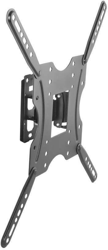 Фото - Кронштейн для телевизора Ultramounts UM 859 черный 32-55, макс.30 кг, настенный поворот и наклон кронштейн настенный mart 306s 10 37 наклон 15° 15° поворот 130 130 до 25 кг черный