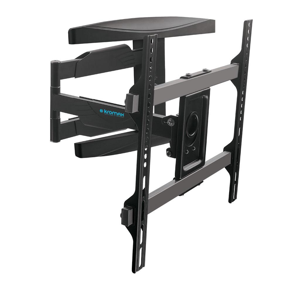 Фото - Кронштейн Kromax ATLANTIS-60 black, настенный, для TV 26-65, max 40 кг, 4 ст св., нак. ±12°, пов. 180°, от ст. 60-700 мм, max VESA 400x200 мм. кронштейн