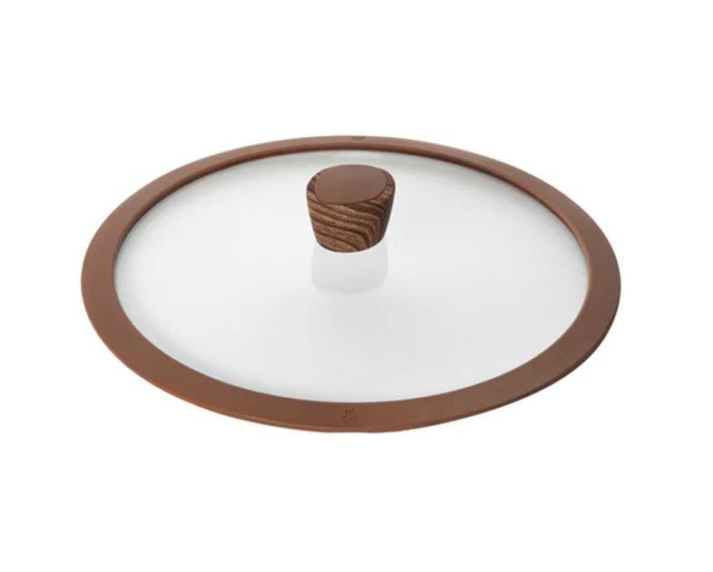 Крышка Nadoba Greta 751311 (28 см) прозрачный/коричневый крышка с силиконовым ободком d 28 см nadoba greta 751311