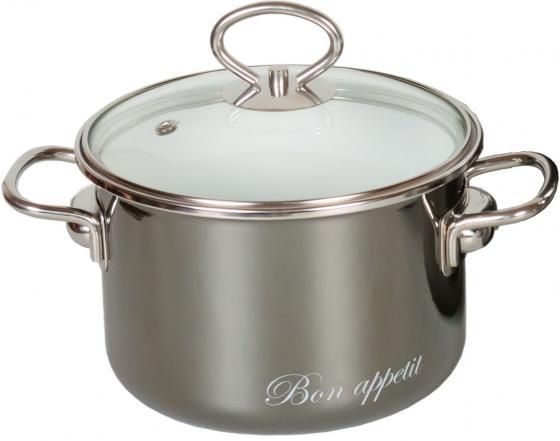 Кастрюля СТАЛЬЭМАЛЬ Bon appetit 20 см 4 л эмалированная сталь 8SD205S серебристый