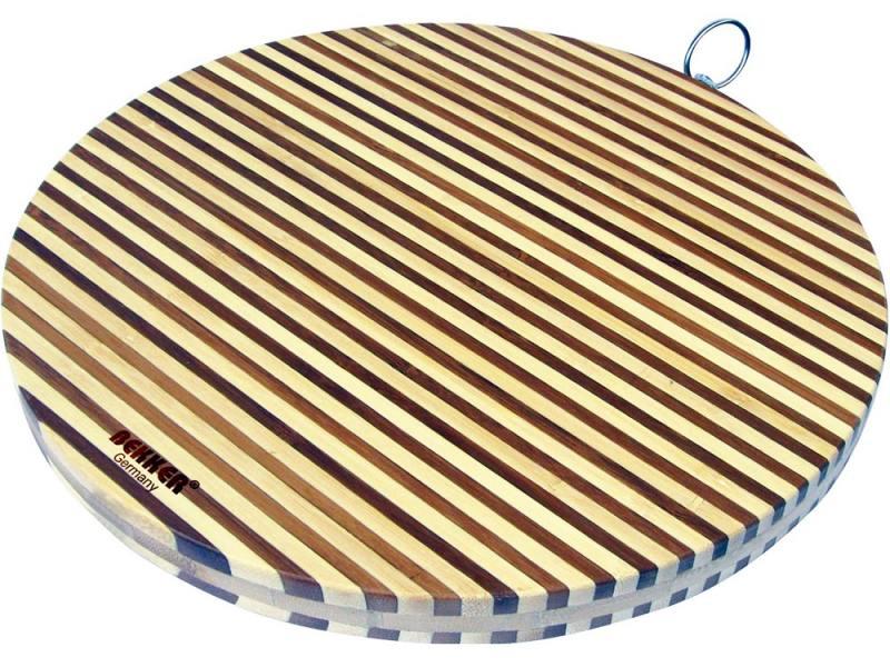 Доска разделочная Bekker BK-9709 30х2 бамбук разделочная доска bekker bk 9702 25 см бамбук