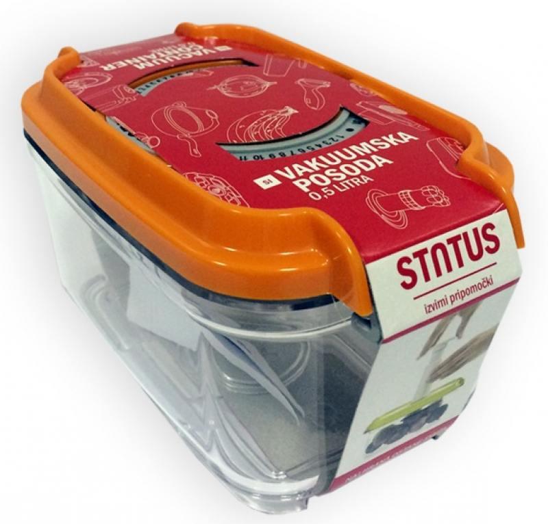 Контейнер для вакуумного упаковщика Status VAC-REC-05 оранжевый контейнер для специй spicebox цвет оранжевый