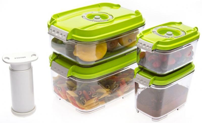 Набор контейнеров для вакуумного упаковщика Status VAC-REC-Smaller зеленый