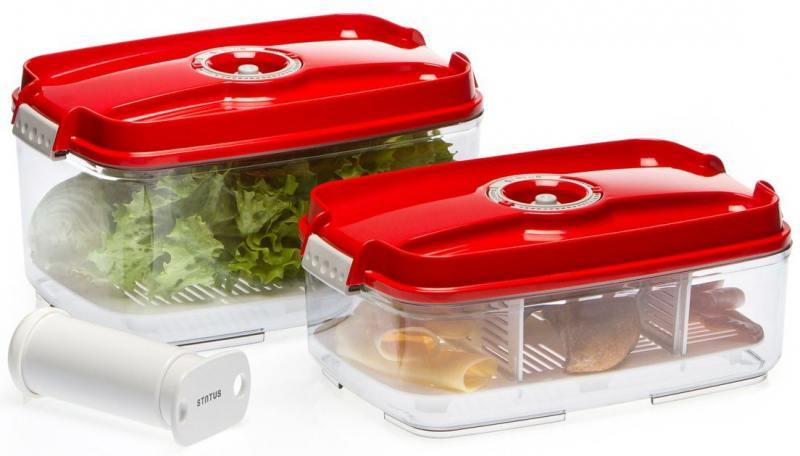 Набор контейнеров для вакуумного упаковщика Status VAC-REC-Bigger красный цены
