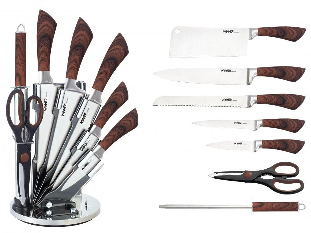 Набор ножей Winner WR-7352 Набор из 7 предметов с подставкой. Состав : нерж. сталь. набор ножей нерж 4 пр универсал