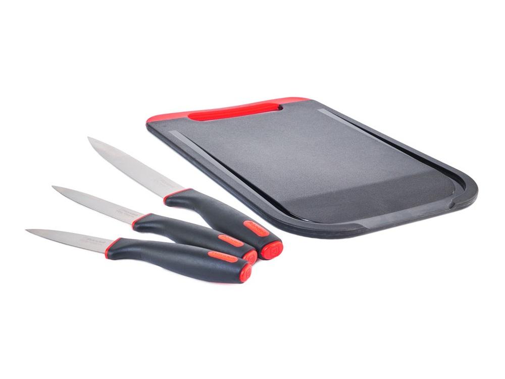 Набор ножей Rondell Urban RD-1010 3 шт с разделочной доской набор ножей rondell cortelas rd 483