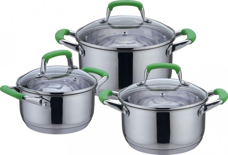 Набор посуды Bekker DeLuxe BK-1738 3 предмета 6807 bk кофейный набор bekker 13пр