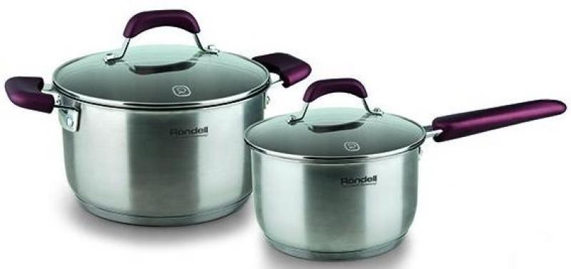 Набор посуды Rondell Bojole RDS-821 4 предмета (кастрюля 20 см, (3,3 л), ковш 16 см, (1,7 л)) кастрюля wellberg wb 3106 basic 20 см 2 7 л металл 4 декора