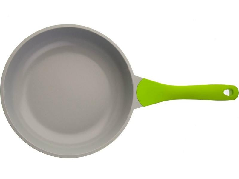 Сковорода BIOSTAL Bio-FP-24 24см салатово-серый