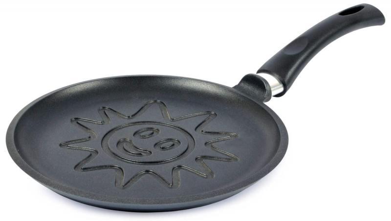 Сковорода блинная Нева-Металл 6224СЛ 24 см — алюминий сковорода нева металл посуда блинная титан черный диаметр 24 см