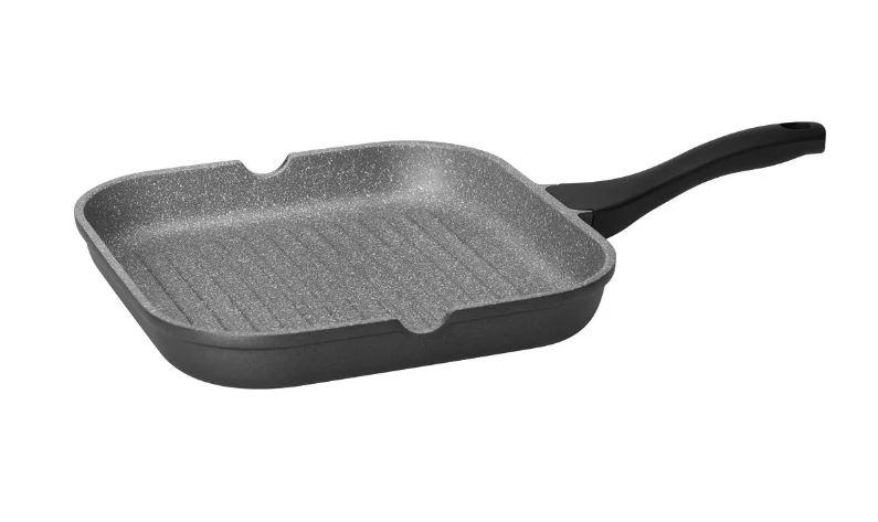 Сковорода-гриль Nadoba Grania 728120 28х28 см, черный/серый сковорода гриль 28х28 см нмп титан 94028g
