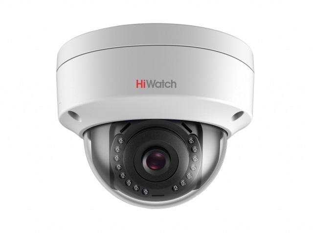 IP-камера HiWatch DS-I102 (4 mm) 1Мп уличная купольная IP-камера с ИК-подсветкой до 30м 1/4'' Progressive Scan CMOS матрица; объектив 4мм; угол обзора