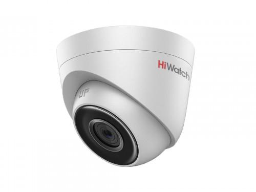 IP-камера HiWatch DS-I103 (2.8 mm) 1Мп уличная IP-камера с EXIR-подсветкой до 30м 1/4'' Progressive Scan CMOS матрица; объектив 2.8мм; угол обзора 92°