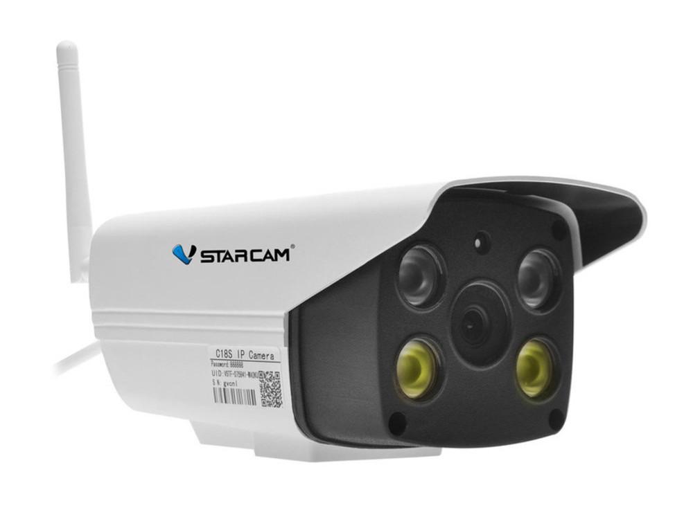 Камера VStarcam C8818WIP/RUSS Уличная беспроводная IP-камера 1920x1080, 84*, MicroSD, встроенная сирена ip камера xvi xi2010cisp ir