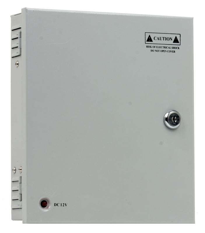 цена на Блок питания для видеокамер Orient PB-09А, OUTPUT: 12V DC 500mA x 9 выходов, металлический корпус