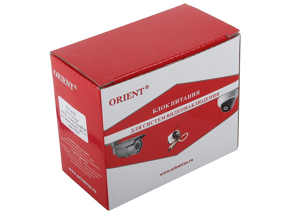 Блок питания для видеокамер Orient SAP-03N, OUTPUT: 12V DC 1500mA блок питания orient pb 40u3 output 12v dc 20a стабилизированный защита от кз и перегрузки imax 21 5a регулятор напряжения 3 выхода металличес