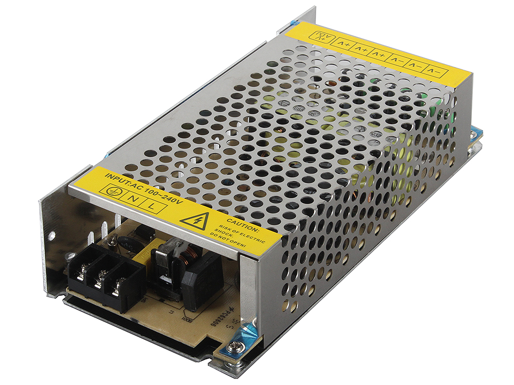 Блок питания ORIENT PB-40U3, OUTPUT: 12V DC 20A, стабилизированный, защита от КЗ и перегрузки (Imax~21.5A), регулятор напряжения, 3 выхода, металличес converter regu lator module dc 12v step up to dc 24v 20a 480w boost power