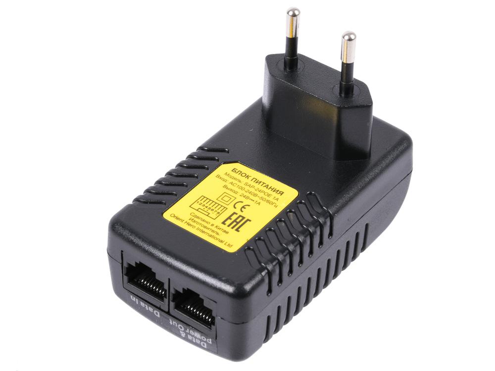 Инжектор питания PoE ORIENT SAP-24POE 1A