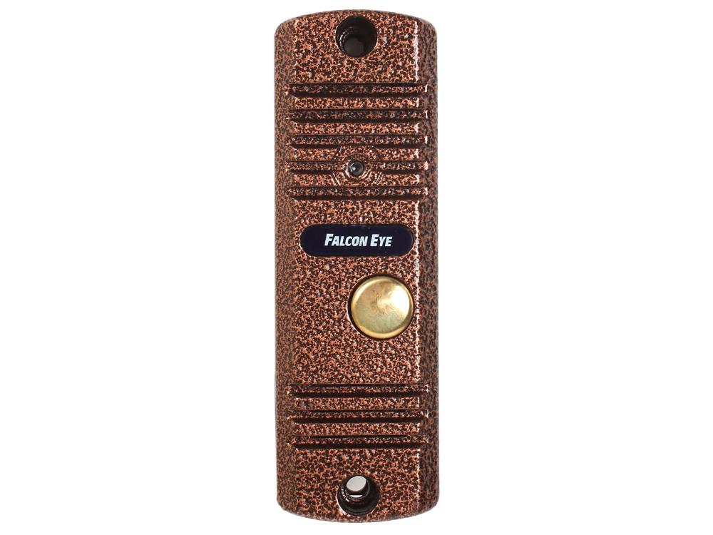 Вызывная панель Falcon Eye FE-305C 4-х проводная; антивандальная накладная видеопанель; с ИК подветкой до 1м, матрица CMOS, 800 ТВл, 12В, с козырьком и угловым кронштейном вызывная панель falcon eye fe ipanel 3 id black
