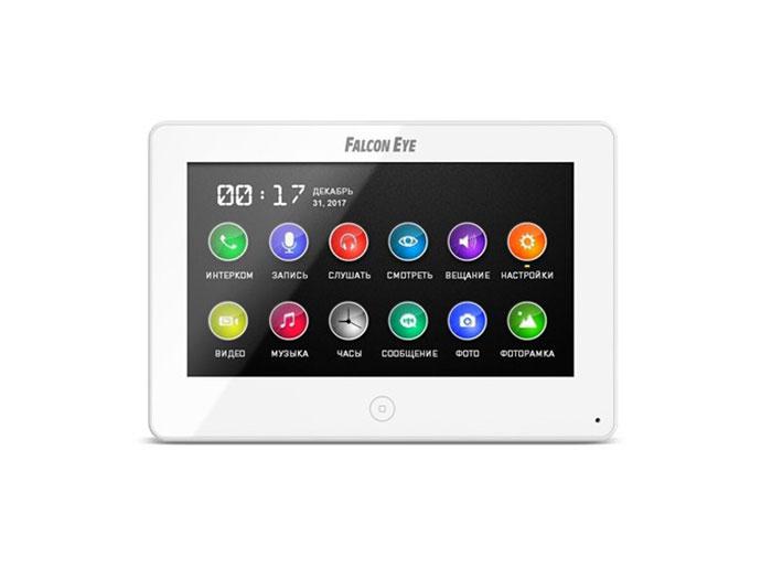 Видеодомофон Falcon Eye FE-70 CAPELLA DVR (White) дисплей 7 TFT; сенсорный экран; подключение до 2-х вызывных панелей и до 2-х видеокамер; адресный лайковые перчатки шерсть сенсорный экран рекс