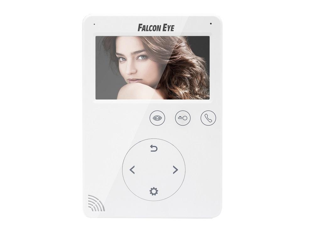 Видеодомофон Falcon Eye FE-VELA дисплей 4.3 TFT; сенсорный экран; подключение до 2-х вызывных панелей и до 2-х видеокамер; интерком; графическое меню; питание DC 15В камера falcon eye fe id1080mhd pro starlight 1 2 8 sony exmor cmos imx291 1920 1080 25 fps чувствительность 0 0008lux f1 2 объектив f 3 6 mm