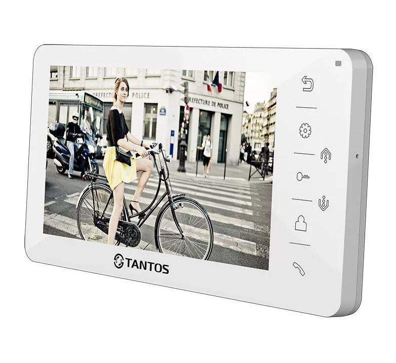 Видеодомофон TANTOS Amelie (White) 7 дисплей (управление сенсорными кнопками, Hands-Free). Русифицированное экранное меню, простое управление функция видеорегистратор tantos