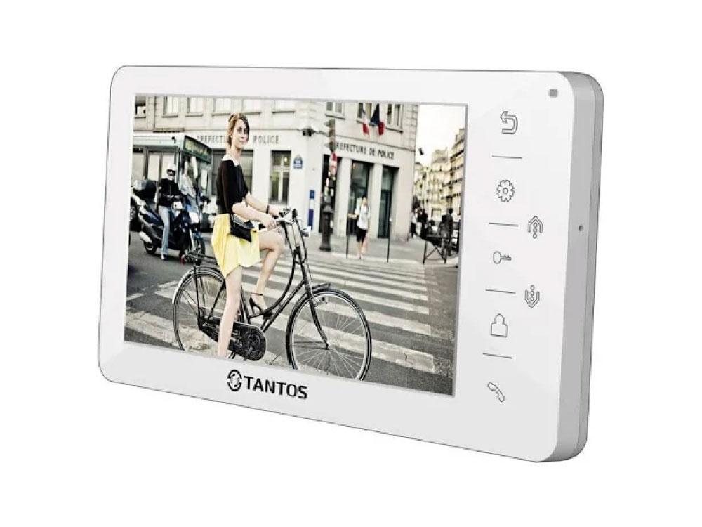 Видеодомофон TANTOS Amelie - SD (White) цветной, TFT LCD 7, PAL/NTSC, Hands-Free, запись фото при вызове, 2 панели, 2 камеры, до 4-х шт. в параллель, free shipping 7 lcd video door phone bells intercom keyfobs ir camera code keypad remote switch 1v2