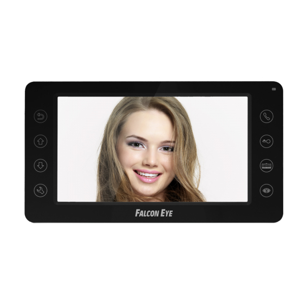 Видеодомофон Falcon Eye FE-70CH ORION (Black) Цветной видеодомофон TFT LCD экран 7, сенсорные кнопки, 4-х проводной. подключение: 2 панели вызова и цена