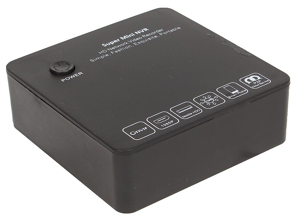 Видеорегистратор VStarcam NVR-4 (AF411) 4х канальный, Onvif и RTSP, 1920x1080p, UpTo 4 ТБ E-Sata комплект видеонаблюдения orient nvr 4ipc 4 уличные камеры 4 х канальный видеорегистратор