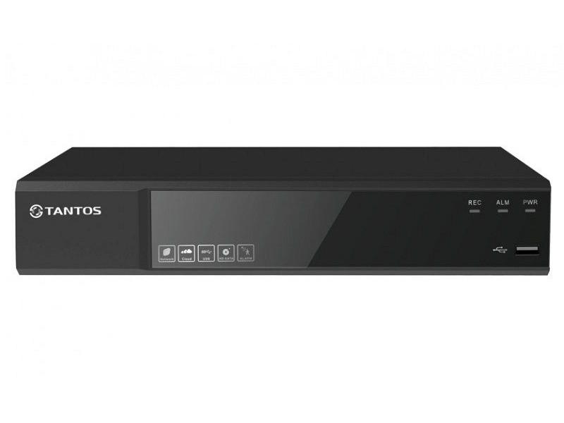 Видеорегистратор TANTOS TSr-NV04142 Сетевой 4 канальный регистратор для IP камер (1 HDD) видеорегистратор для автотранспорта orient mdvr 104sd 4 канальный гибридный регистратор 4xcvbs 960h d1 4xahd 720p 1280x720 25fps синхронная запис