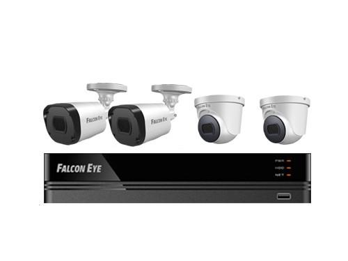 Комплект видеонаблюдения Falcon Eye FE-104MHD KIT SMART Офис камера видеонаблюдения falcon eye fe id5 0mhd 20m