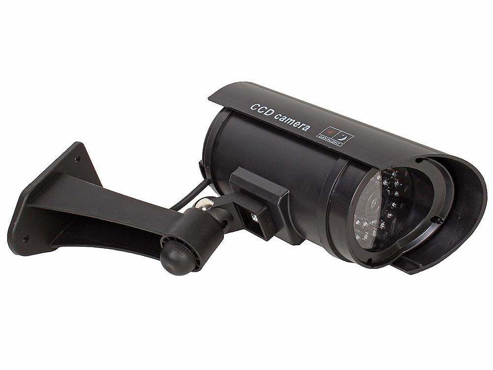 Муляж камеры видеонаблюдения Orient AB-CA-11B черный LED (мигает), для наружного наблюдения