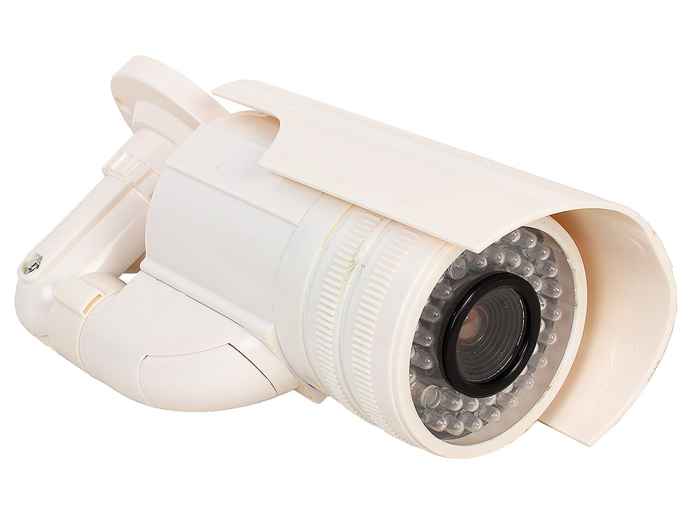 Муляж камеры видеонаблюдения Orient AB-CA-21 белый LED (мигает), для наружного наблюдения муляж камеры видеонаблюдения orient ab dm 25w купольная led мигает для наружного наблюдения