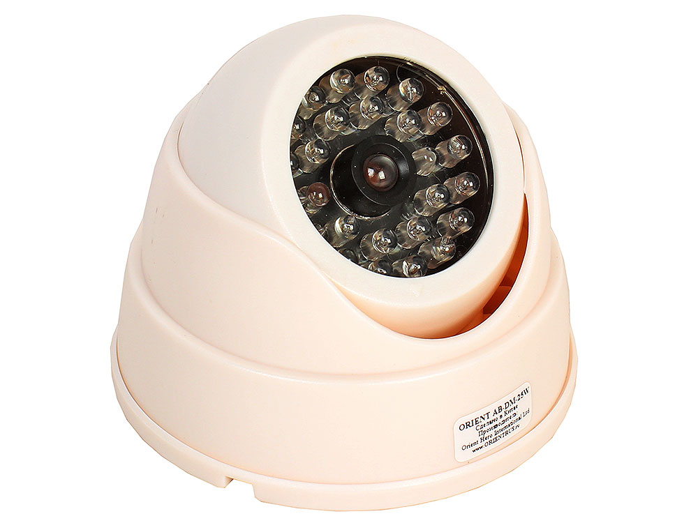 Муляж камеры видеонаблюдения Orient AB-DM-25W купольная, LED (мигает), для наружного наблюдения все цены