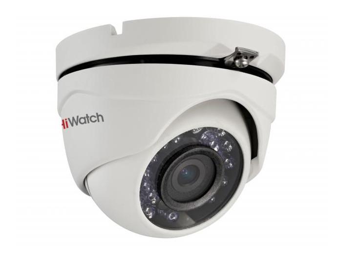 """Камера HiWatch DS-T103 (2.8 mm) 1Мп уличная купольная HD-TVI камера с ИК-подсветкой до 20м 1/4"""" CMOS матрица; объектив 2.8мм; угол обзора 92°; механический ИК-фильтр; 0.1 Лк@F1.2; IP66"""