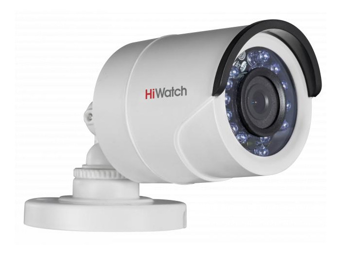 "Камера HiWatch DS-T200 (2.8 mm) 2Мп уличная цилиндрическая HD-TVI камера с ИК-подсветкой до 20м 1/2.7"" CMOS матрица; объектив 2.8мм; угол обзора 103°"