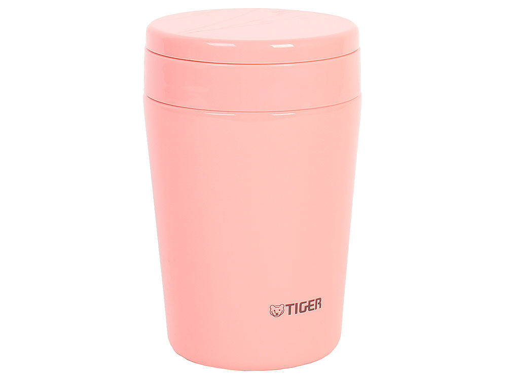 цена Термоконтейнер для первых или вторых блюд Tiger MCL-A038 Cream Pink, 0.38 л (цвет кремово-розовый, горловина 7 см, конусообразная форма) онлайн в 2017 году