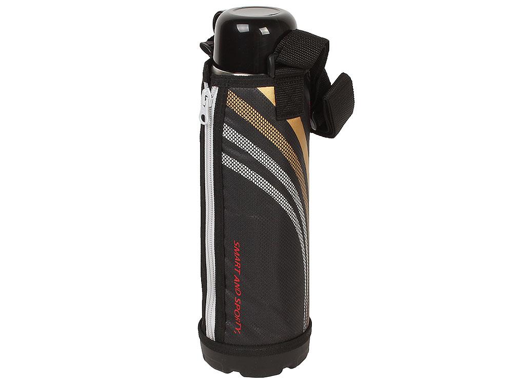 Термос спортивный Tiger MBO-E100 Black, 1 л (нержавеющая сталь, цвет крышки черный, цвет термоса стальной) термос металлический 1 0 л tiger термос металлический 1 0 л