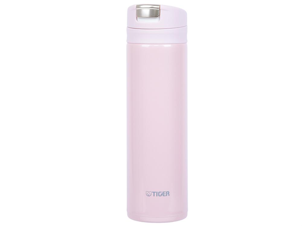 Термокружка Tiger MMX-A030 Powder Pink 0,3 л (цвет пудрово-розовый, откидная крышка на кнопке, нержавеющая сталь)