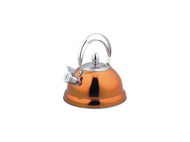 купить Чайник со свистком Bekker BK-S427 оранжевый 2.6 л, нержавеющая сталь дешево