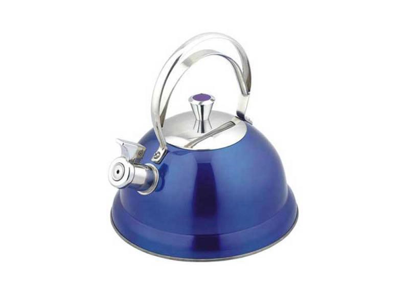 Чайник Bekker BK-S440 2.6 л нержавеющая сталь синий дуршлаг bekker bk 826 20 см нержавеющая сталь