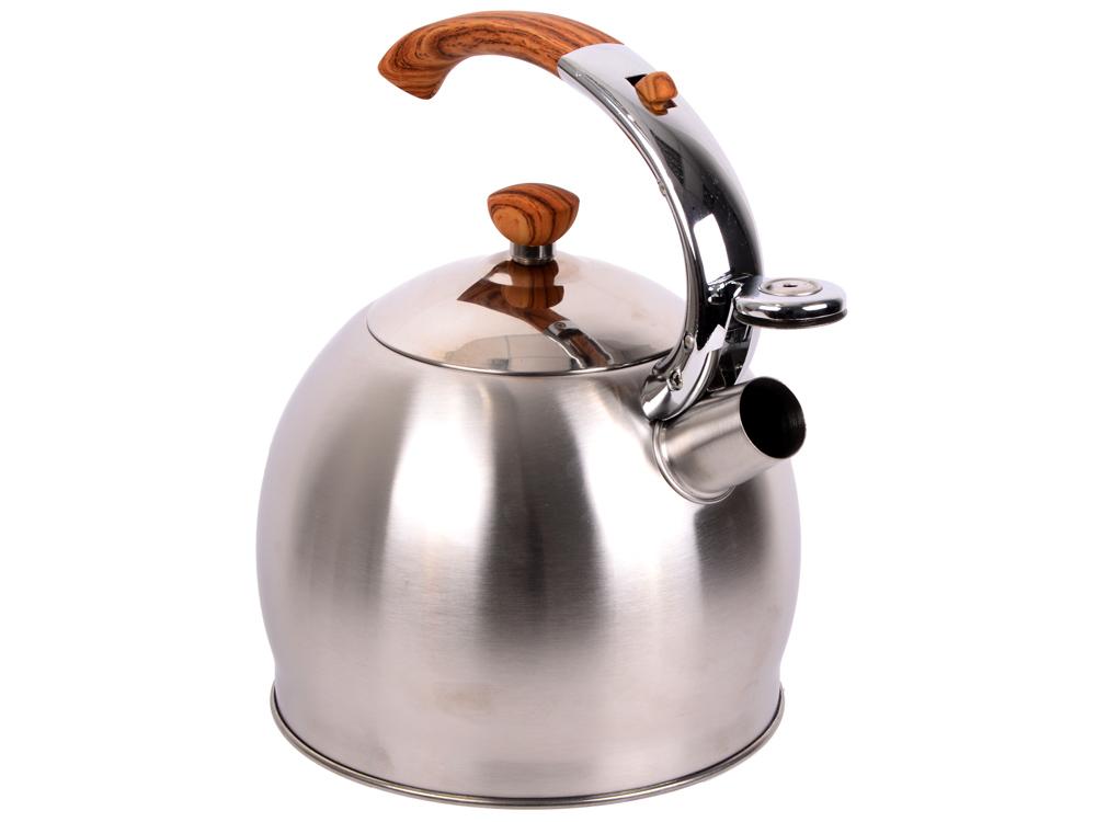 Фото - Чайник со свистком Teco ТС-110 3.5 л нержавеющая сталь серебристый чайник rainstahl со свистком цвет красный белый 2 л