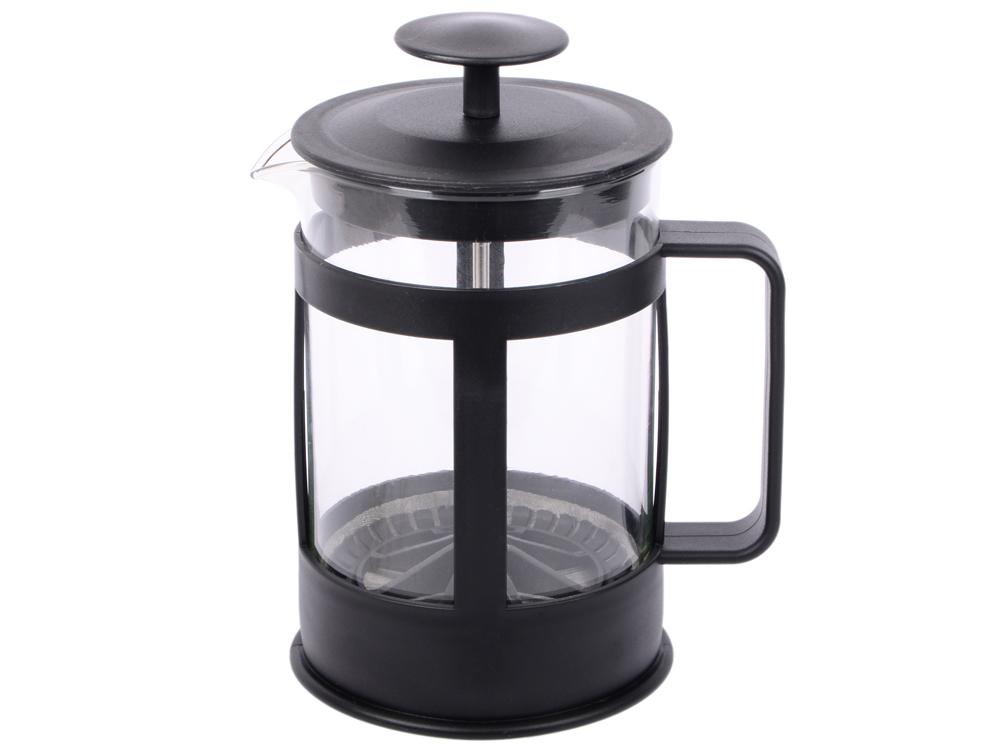 Френч-пресс Bekker Deluxe BK-369 0.8 л пластик/стекло чёрный прозрачный френч пресс bekker deluxe 0 6 л bk 364