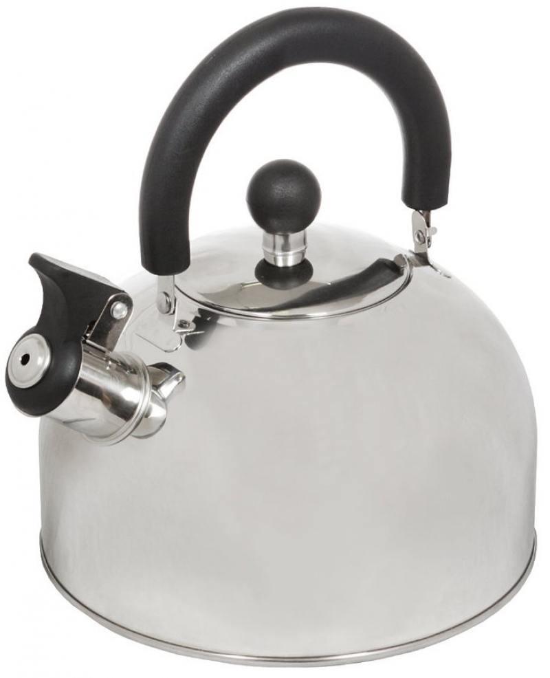 Чайник со свистком Катунь КТ-105B серебристый 2.5 л, нержавеющая сталь