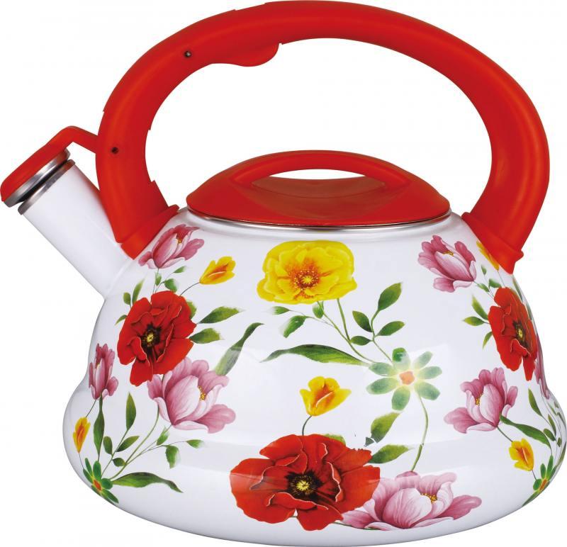 Чайник Winner WR-5112 2.8 л металл белый рисунок чайник winner 3 л wr 5030