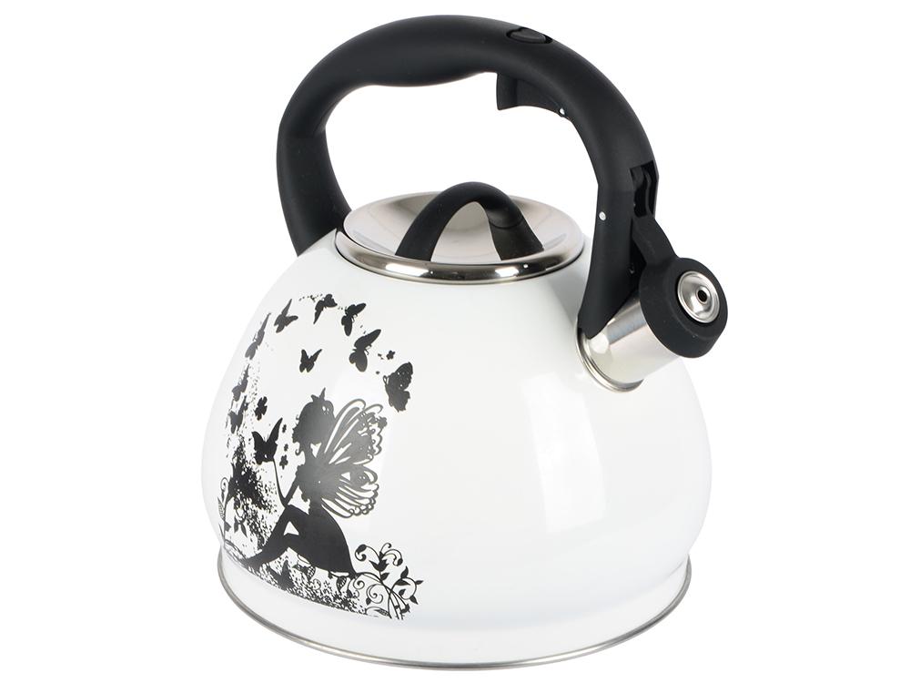цена на Чайник Bekker BK-S601 белый 3 л нержавеющая сталь
